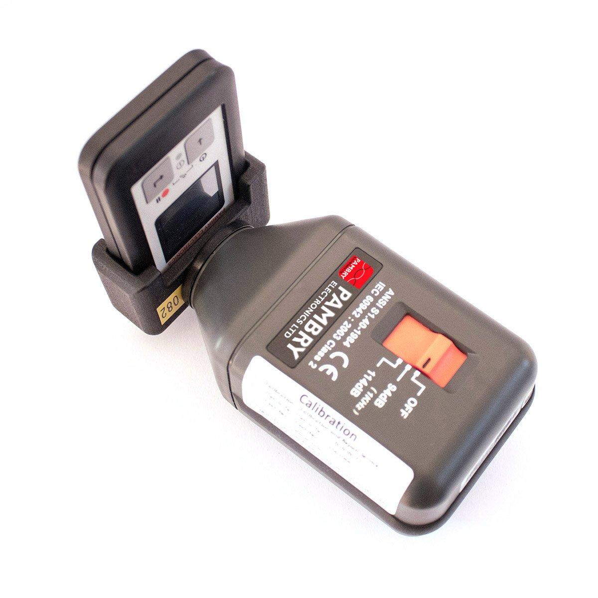 Listen Ear™ Internal Microphone Calibrator Adapter and Calibrator assembled with Listen Ear™