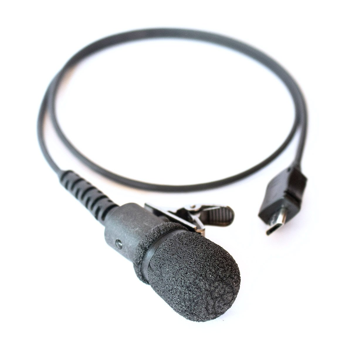 Listen Ear™ External Microphone with LED warning indicator, windsock attached